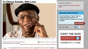 DHPoco honors Chinua Achebe